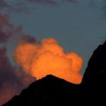 Wolke im Abendlicht